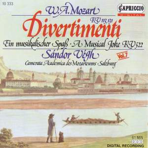 Mozart: Divertimenti Product Image