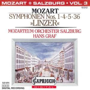 Mozart: Symphonies Nos. 1, 4, 5, 36, 'Linzer'