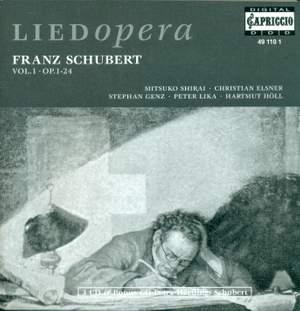 SCHUBERT, F.: Lieder, Vol. 1 - Opp. 1-24 (Shirai, Elsner, Genz, Lika, Holl)