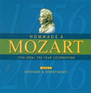 MOZART (A HOMAGE) - 250 YEAR CELEBRATION, Vol. 2 (Serenade and Divertimenti)