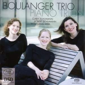 Piano trios by Robert & Clara Schumann and Wolfgang Rihm