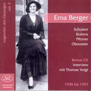 Vocal Recital: Erna Berger