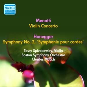 Menotti: Violin Concerto in A Minor