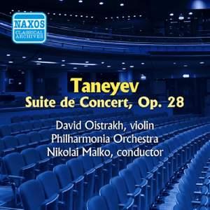 Taneyev, S: Suite de Concert Op. 28