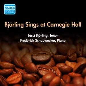 Bjorling Sings at Carnegie Hall