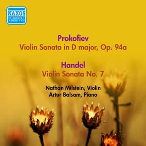 Prokofiev: Violin Sonata, Op. 94A & Handel: Violin Sonata in D Major, HWV 371