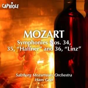 Mozart: Symphonies Nos. 34 - 36 Product Image