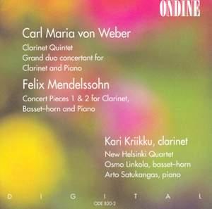 Clarinet Chamber Music by Weber & Mendelssohn
