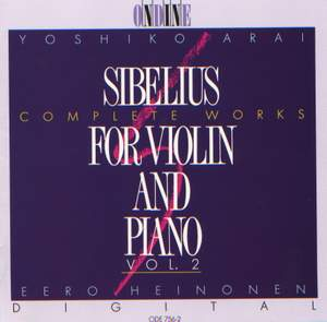 SIBELIUS, J.: Violin and Piano Music (Complete), Vol. 2 Product Image