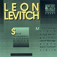 Levitch: Viola Sonata / Sonata for Solo Violin / Ricordo Di Mario / Violin Sonata
