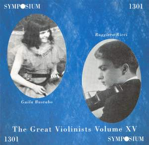 The Great Violinists, Vol. 15 (1938-1941)