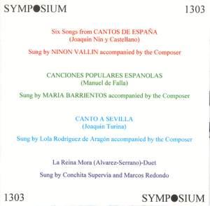 Songs of Spain (1928-1937)