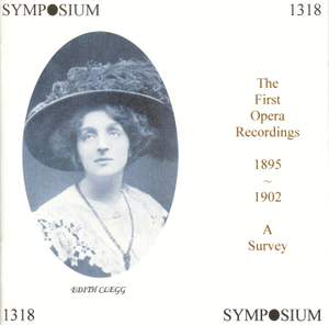 The First Opera Recordings (1895-1902) Product Image