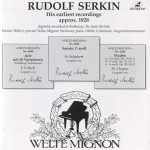 Rudolf Serkin: His earliest recordings
