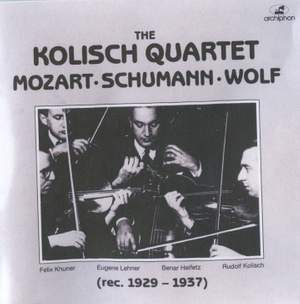 The Kolisch Quartet (1929-1937)