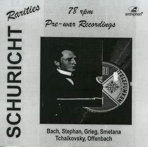 Schuricht: Pre-war 78 rpm recordings