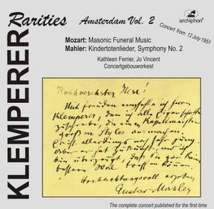 Klemperer Rarities: Amsterdam, Vol. 2 (1951)