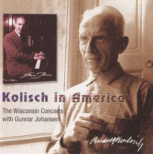 Kolisch in America, Vol. 1