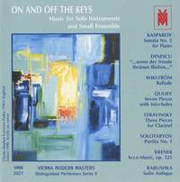 Distinguished Performers, Series 5: On and Off the Keys (Music for Solo Instruments and Solo Ensemble