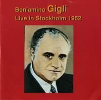 Beniamino Gigli: Live in Stockholm (1952)