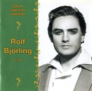Great Swedish Singers: Rolf Bjorling (1964-1981)