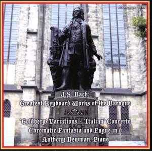 JS Bach: Goldberg Variations, Italian Concerto & Chromatic Fantasia and Fugue