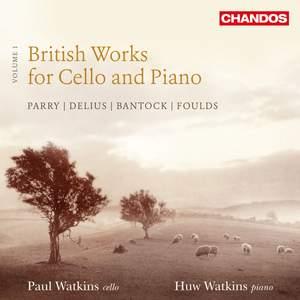 British Works for Cello and Piano, Vol. 1