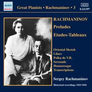 Rachmaninov - Solo Piano Recordings Volume 3