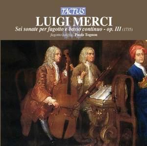 Merci: Sei sonate per fagotto e basso continuo, Op. 3 Product Image