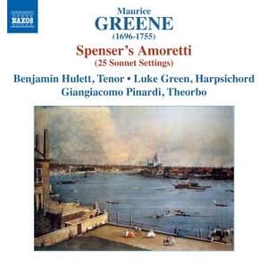 Maurice Greene: 25 Sonnet Settings Taken From Spenser's Amoretti Product Image
