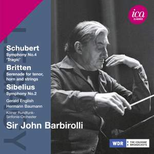 Sir John Barbirolli conducts Sibelius, Schubert & Britten