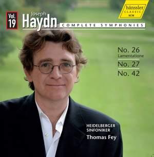 Haydn - Complete Symphonies Volume 19