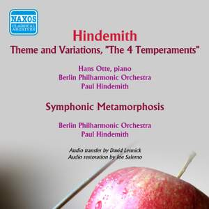 Hindemith: The Four Temperaments & Symphonic Metamorphosis after Themes by Carl Maria von Weber