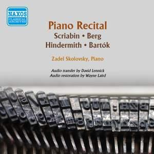 Piano Recital: Scriabin, Berg, Hindemith & Bartók