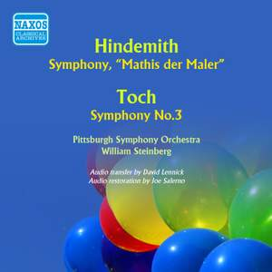 Hindemith: Symphony, 'Mathis der Maler' & Toch: Symphony No. 3