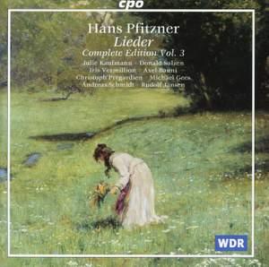 Pfitzner: Complete Lieder Edition, Vol. 3