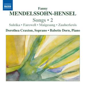 Mendelssohn-Hensel: Songs Volume 2 Product Image