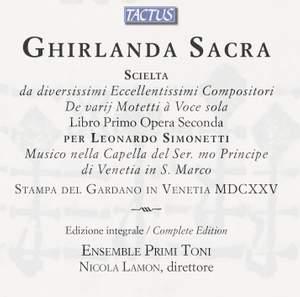 Ghirlanda Sacra Venezia, 1625