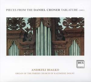 Pieces from The Daniel Croner Tablature Product Image