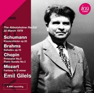 Emil Gilels plays Schumann, Brahms & Chopin