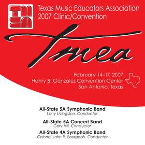 2007 Texas Music Educators Association (TMEA): All-State 5A Symphonic Band, All-State 5A Concert Band & All-State 4A Symphonic Band