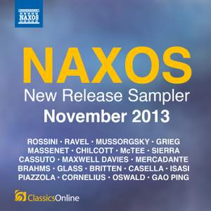 Naxos November 2013 New Release Sampler