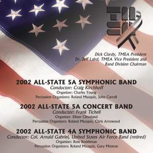 2002 Texas Music Educators Association (TMEA): All-State 5A Symphonic Band, All-State 5A Concert Band & All-State 4A Symphonic Band