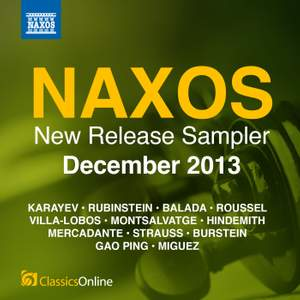 Naxos December 2013 New Release Sampler Product Image