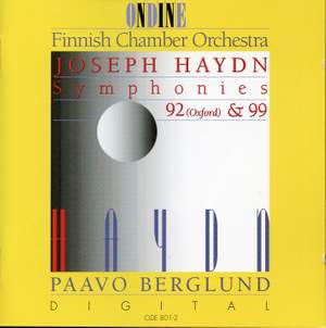 Haydn: Symphonies 92 (Oxford) & 99 Product Image