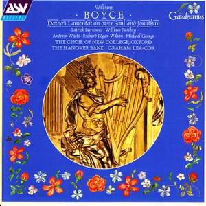 Boyce: David's Lamentation over Saul and Jonathan (Dublin Version, 1744) Product Image