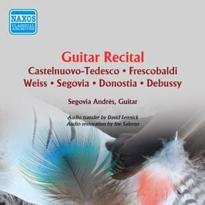Andrés Segovia - Guitar Recital