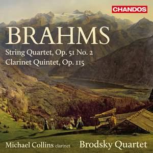 Brahms: String Quartet in A minor, Op. 51 No. 2 & Clarinet Quintet Product Image
