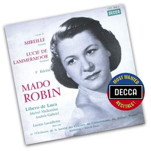 Mado Robin sings excerpts from Lucia and Mireille