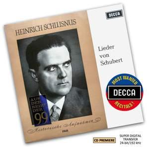 Heinrich Schlusnus - A Schubert Recital